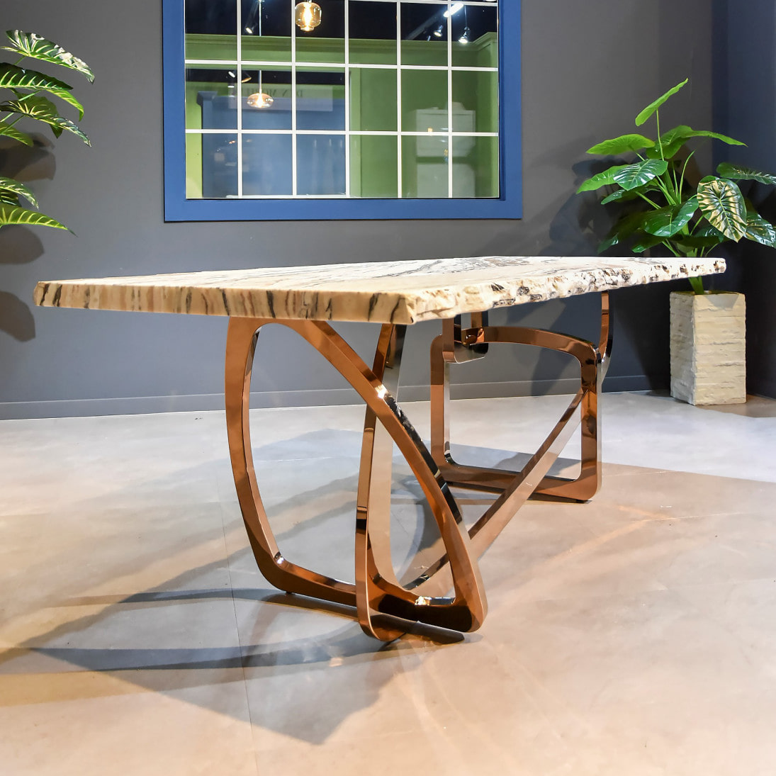 ITALY STONE SLAB DINNER TABLE
